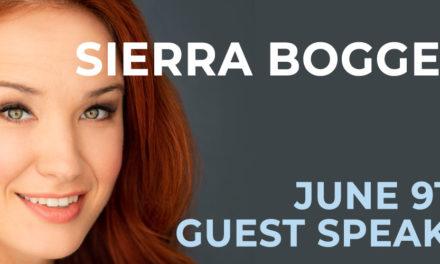 Sierra Boggess 6/9: Guest Speaker